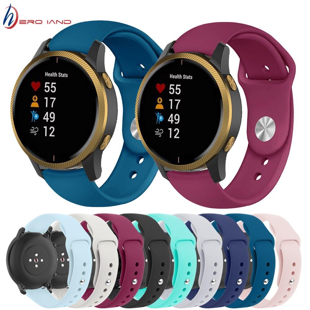 20mm 22mm correa de silicona para Huami Amazfit GTR GTS Samsung Galaxy reloj de 42mm 46mm activo 2 DE S2 S3 Correa banda pulsera