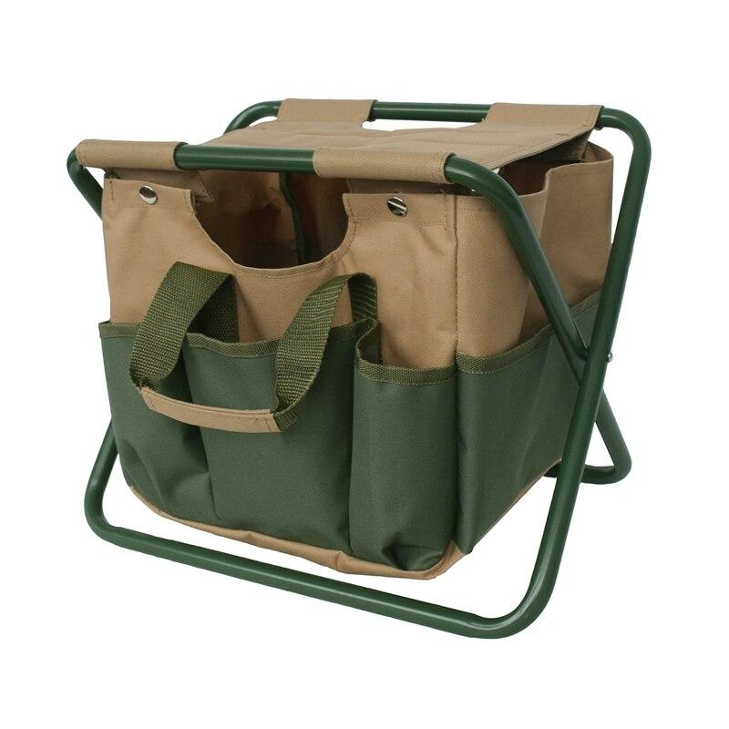SEWS-taburete de pesca plegable para exterior, bolsa de almacenamiento de uso doble, silla plegable, Kit de jardín desmontable, taburete de descanso