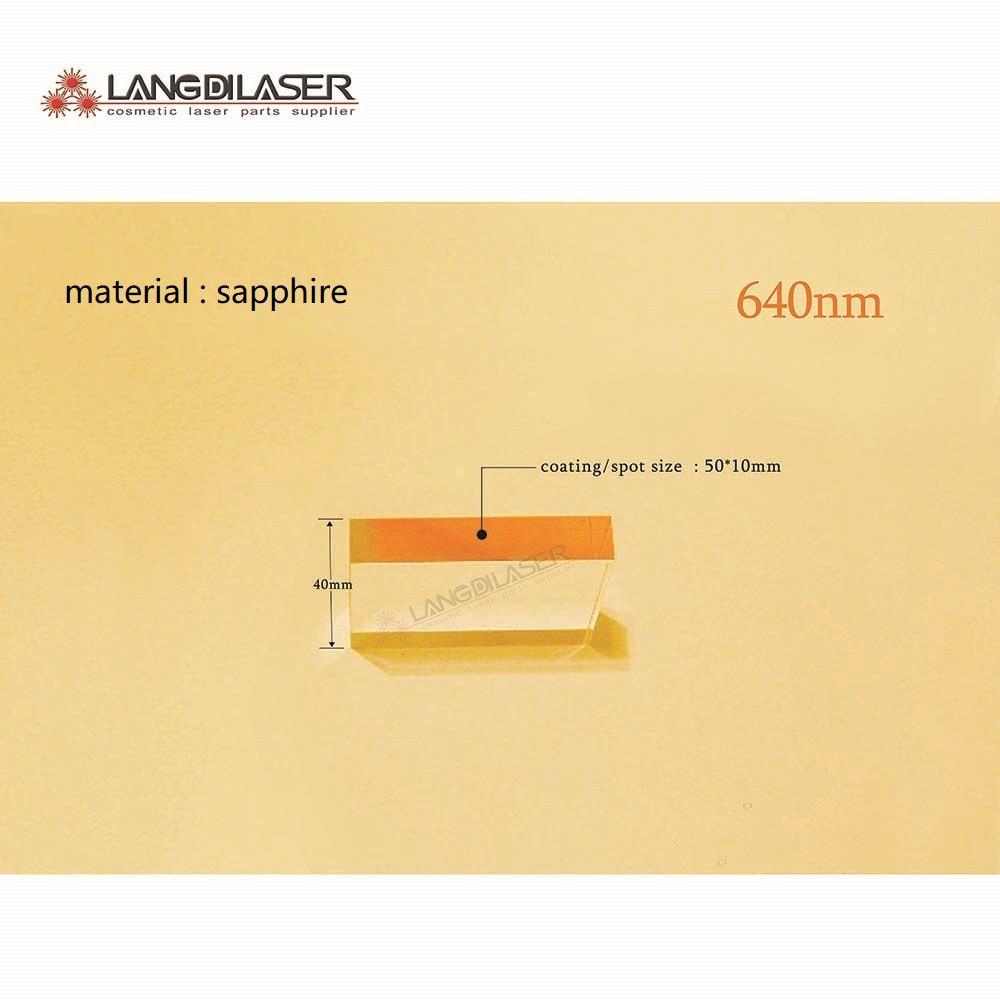 size : 50*10*40 / spot size : 50*10 / sapphire filtro ipl de zafiro - wavelength : 640nm / optic filters with material sapphire