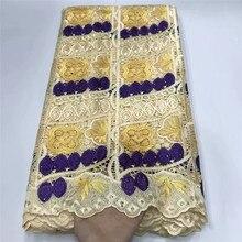 Afryki koronki tkaniny żółty kolor gipiury koronki tkaniny 2020 nigeryjski szal wysokiej jakości koronki tkaniny na suknie ślubne df16-7