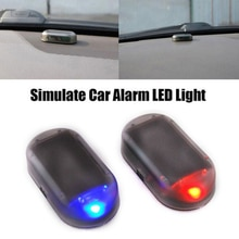 1PC Car Fake Solar Energy Warning Lamp LED Flash Light Car Power Alarm Lamp Security Warning Anti-Th