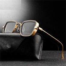 Occhiali da sole quadrati stile Steampunk Classic Gothic uomo donna Designer di marca Square AlloyFrame occhiali da sole con lenti colorate