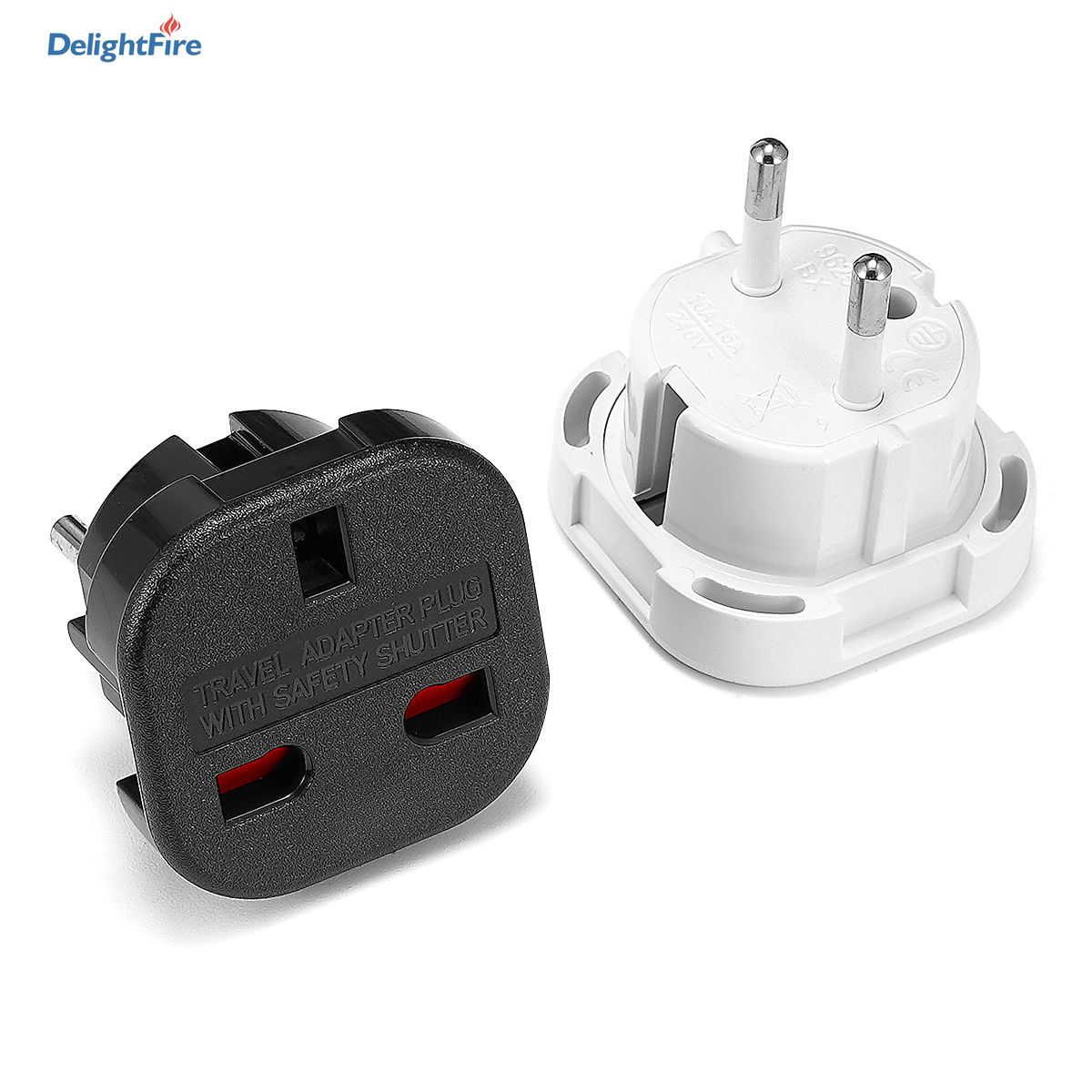 travel eu plug converter adapter 250v ac travel charger wall power plug socket with home adapter EU Plug Adapter Socket 4.0mm UK To EU Travel Adapter 2 pin Black/White Electrical Plug Converter UK Power Cable Charger Socket