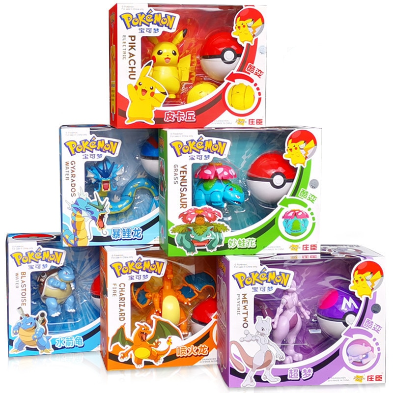 AliExpress - Genuine Pokemon Toy Set Toy Pocket Monster Pikachu Charmander  Mewtwo Lunala Scroll Action Figure Anime Model Children's Toys