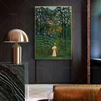 woman walking in an exotic forest by henri rousseau poster print birthday gift idea home decor wall art poster print