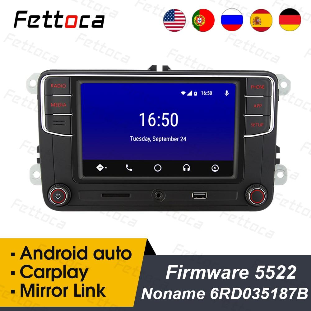 "RCD330 6RD035187B RCD330 plus Android Auto CarPlay 6,5 ""coche MIB de Radio para skoda Golf 5 Jetta MK5 MK6 CC Tiguan Passat B6 B7 Polo"