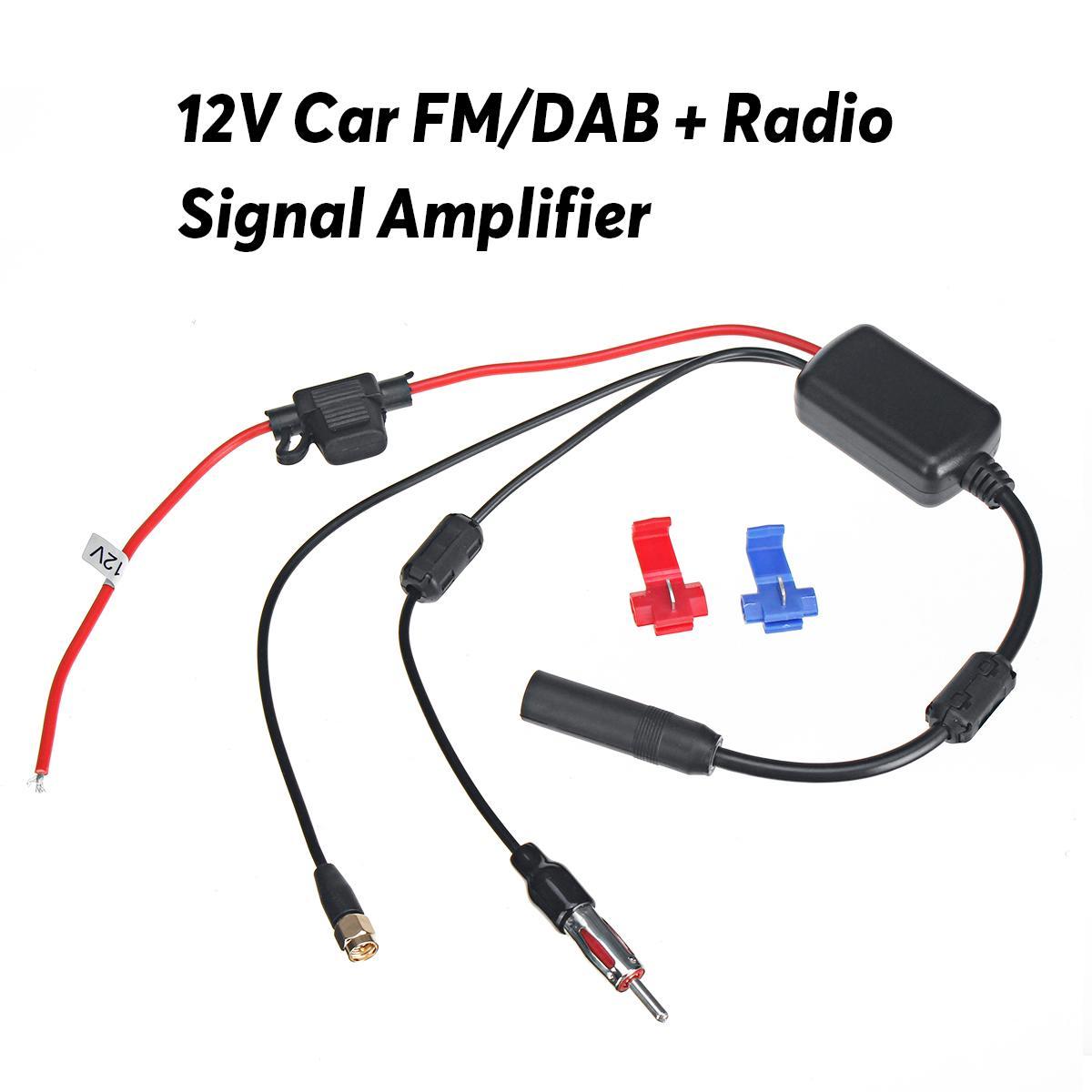Universal DAB + FM Antena de coche, Cable divisor aéreo, amplificador de señal de Radio Digital 88-108MHZ 170-240MHZ