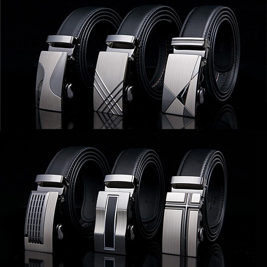 2019 New Male Designer Automatic Buckle Cowhide Leather men belt Famous Brand Belt Luxury belts for men Ceinture Homme