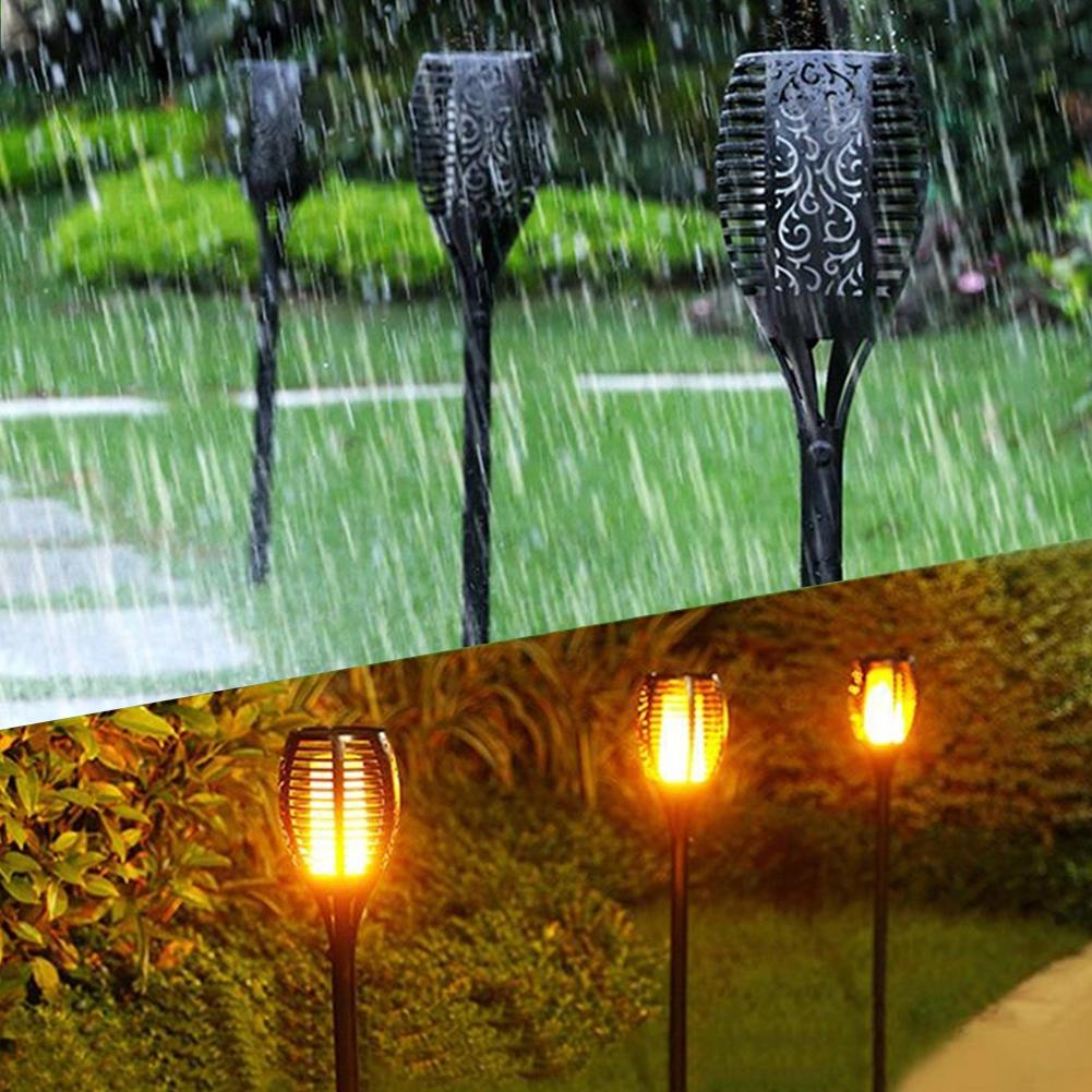96 LEDs Torch Flame Solar Lawn Light Garden LED Gardening Landscape Night Lighting Outdoor Lights Drop Shipping