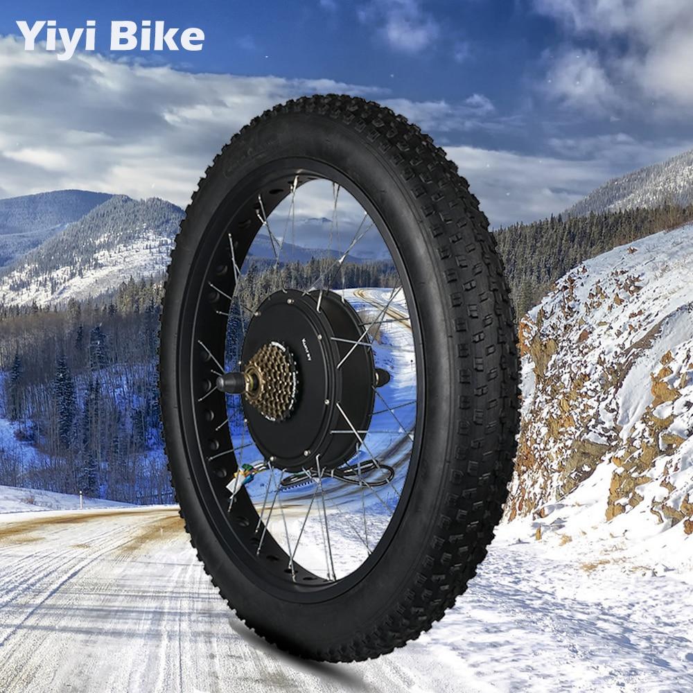63-70km/h Electric Bike Kit Rear Wheel Fat Bike 3000W Electric Motor 72V Hub Motor Bike ebike Conversion Kit 20 26inch MTB Motor