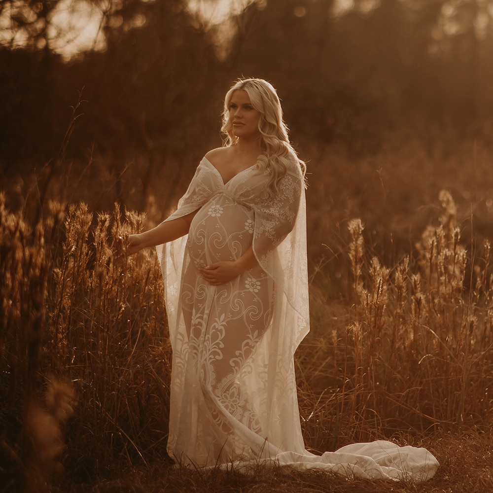 Don&Judy White Boho Maternity Dress for Photo Shoot Baby Showers Maxi Gown Pregnancy Pregnant Women Dress Photography Props 2021 enlarge