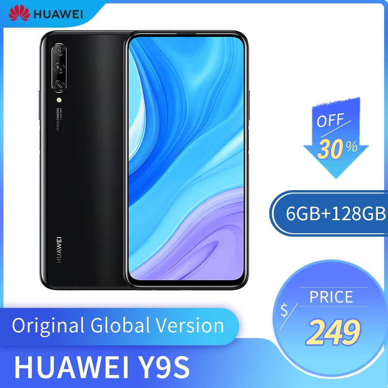 """Original Global Version Huawei Y9s 6GB + 128GB Smartphone 48MP AI Triple Cameras Mobile Phone  16MP Front camera 6.59"""" cellphone"""