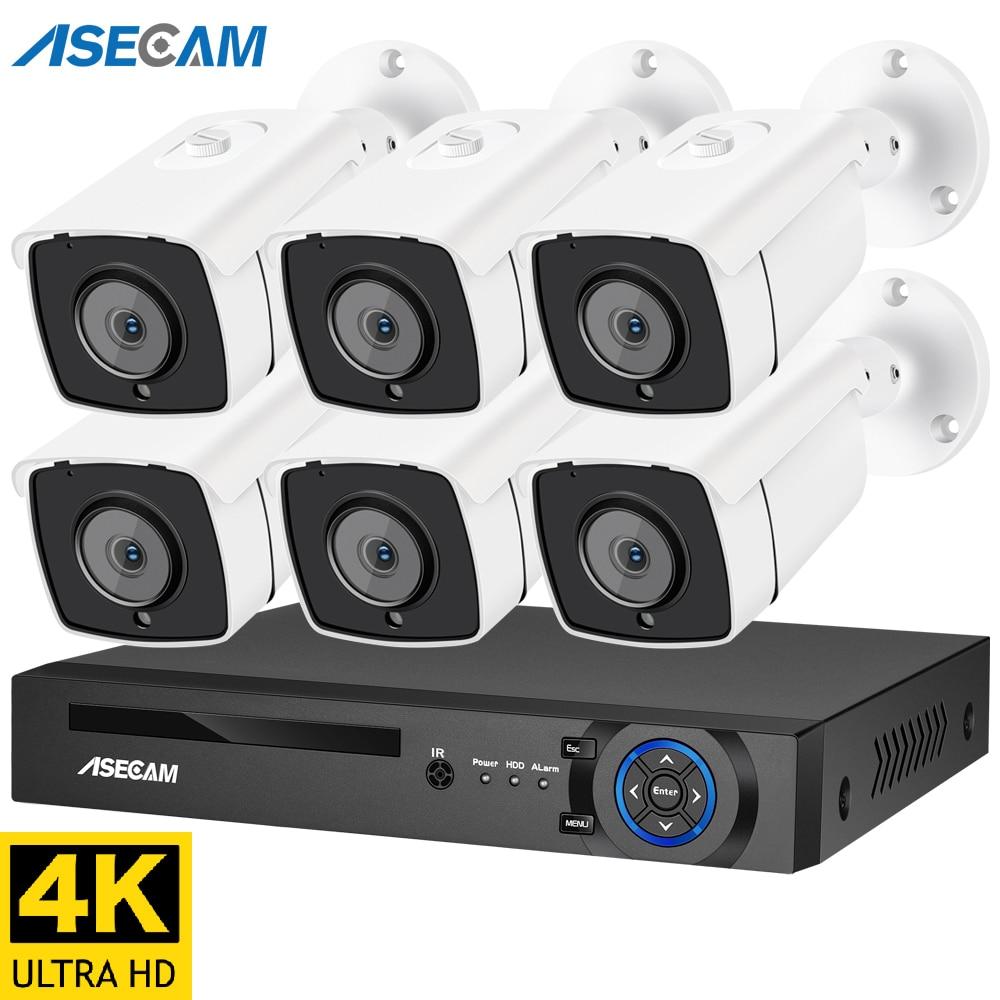 Nowy 4K Ultra HD 8MP H.265 POE NVR kamera ochrony zestaw do organizacji na świeżym powietrzu wodoodporna kamera CCTV