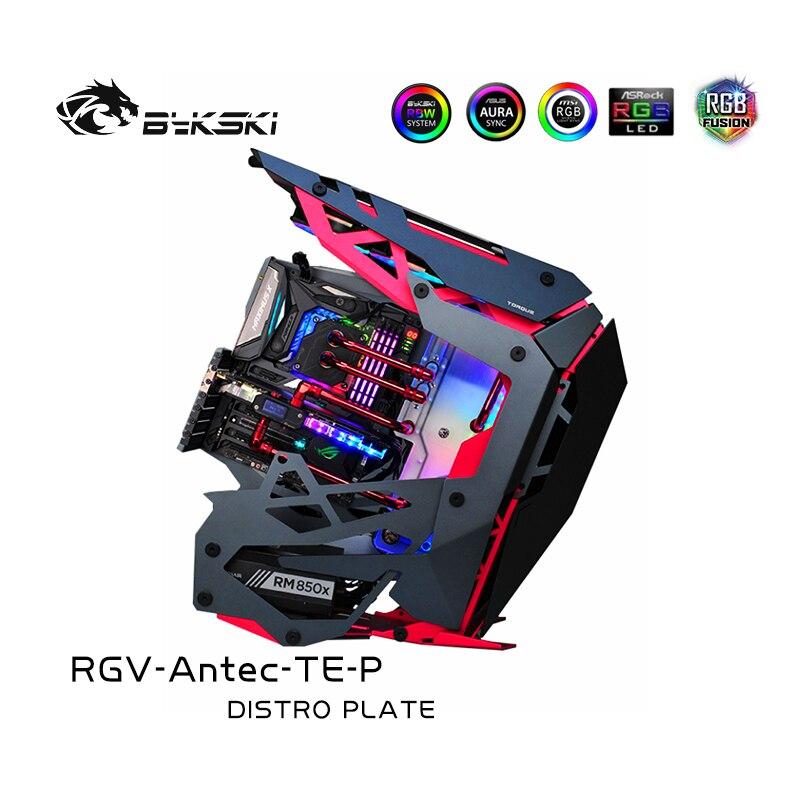 [해외] Bykski-RGV-Antec-TE-P Antec 토크 케이스용 수로 보드, RBW 5V 조명, 인텔 CPU 워터 블록 및 단일 GPU 빌딩 용