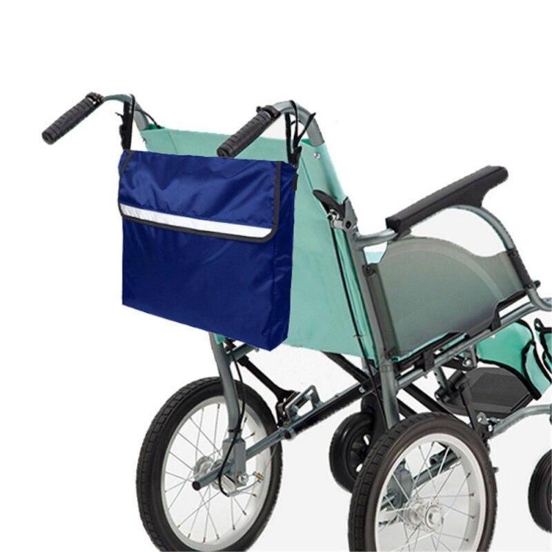 Nueva mochila para silla de ruedas Scooter Eléctrico sillas de ruedas bolsas de almacenamiento lateral paquete ligero silla de ruedas y andador