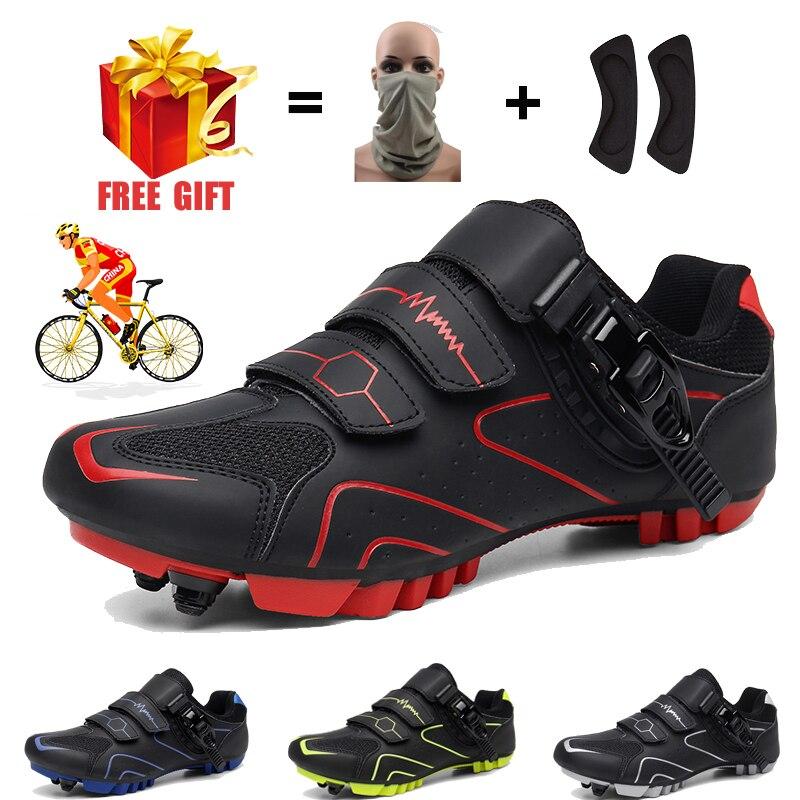Zapatos de ciclismo para hombre y mujer, zapatillas profesionales de ciclismo de...