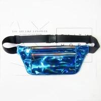 ladies holographic bellybags waist bag belt bag new design waterproof chest handbag unisex crossbody shoulder bags