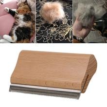 Wood Groom Brush Pet Undercoat Hair Brush Wooden Groomming Brush Pet Hair Removal Comb Short Long Hair Dog Cat Fur Dirt Horse