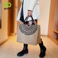 Женская сумка GOPLUS 2021, винтажная большая дизайнерская сумка на плечо, Женская дорожная сумка для покупок, женская сумка, женские летние пляжн...
