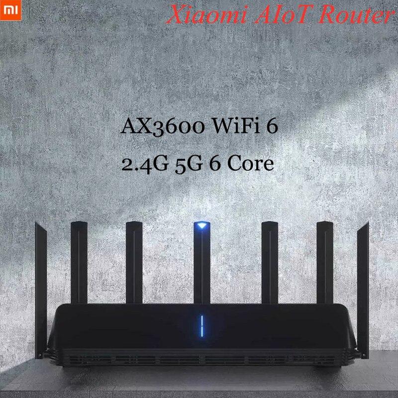 Xiaomi AIoT Router 2.4G 5G 6 Core Wireless Router Signal Amplifier Modem AX3600 WiFi 6 6*Antennas MU-MIMO 512MB Wifi Adapter