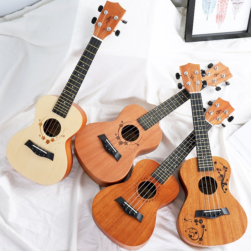 Tenor Ukulele Solid Mahogany Barato Flower Blue 4 String Small Guitar Profesional Luxury Perform Guitarra Entertainment ZZ50YL enlarge