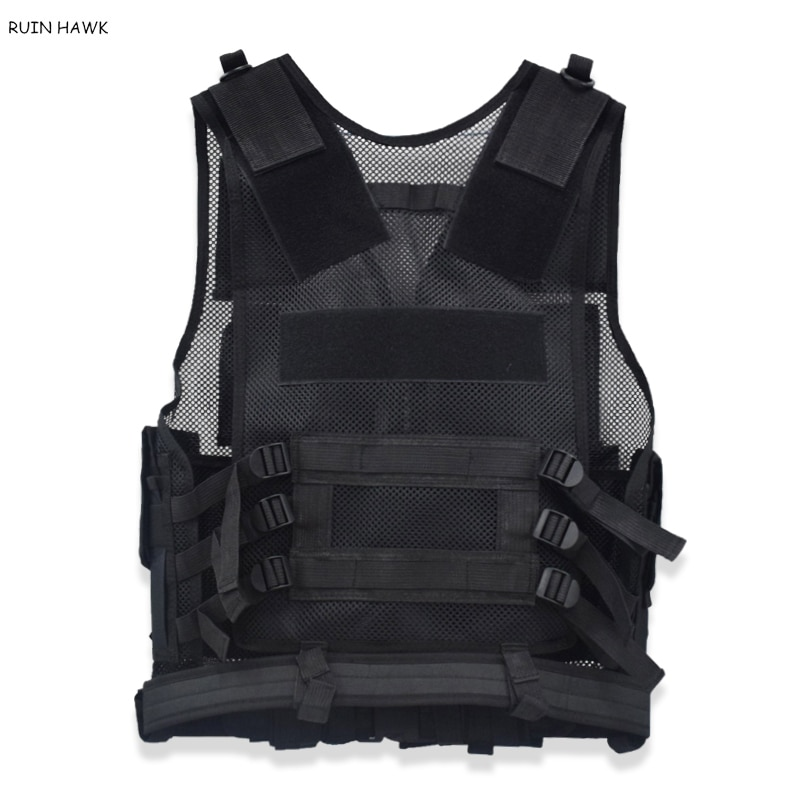 Tactical Molle Vest Army Combat Armed Vest Military Gear Outdoor Airsoft Paintball Sport Protective Body Armor