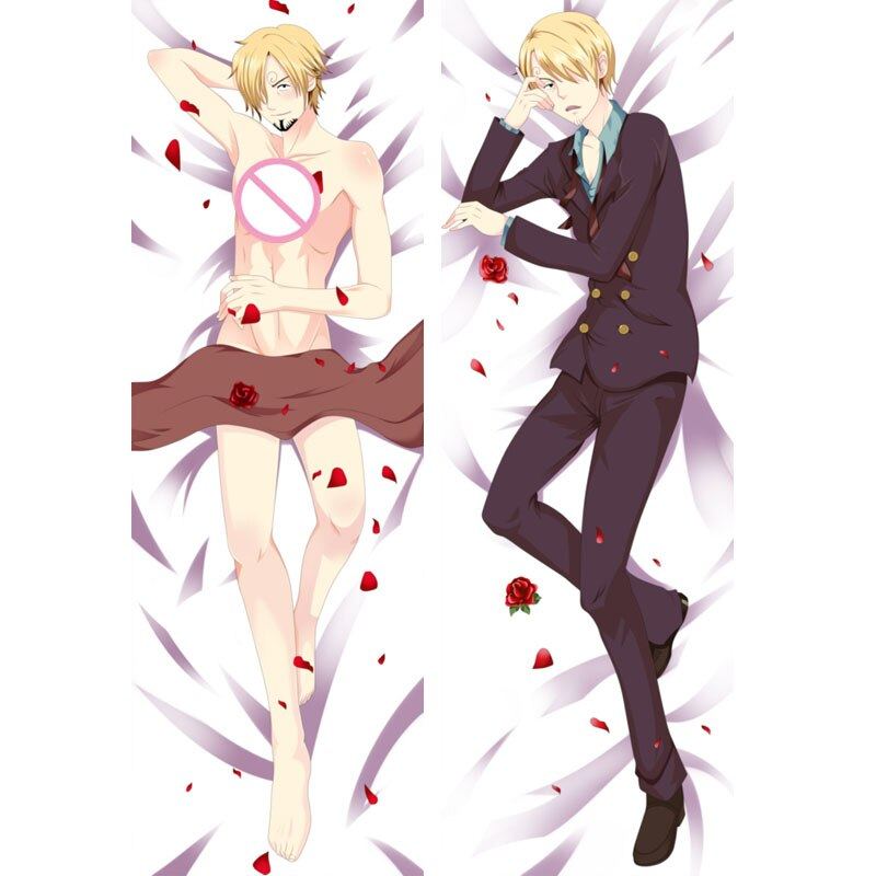 Funda de almohada de Anime japonés de una pieza Sanji Cosplay, funda de almohada de Anime de Manga Dakimakura, funda de cojín BL Otaku para hombre, regalo de Abrazo corporal
