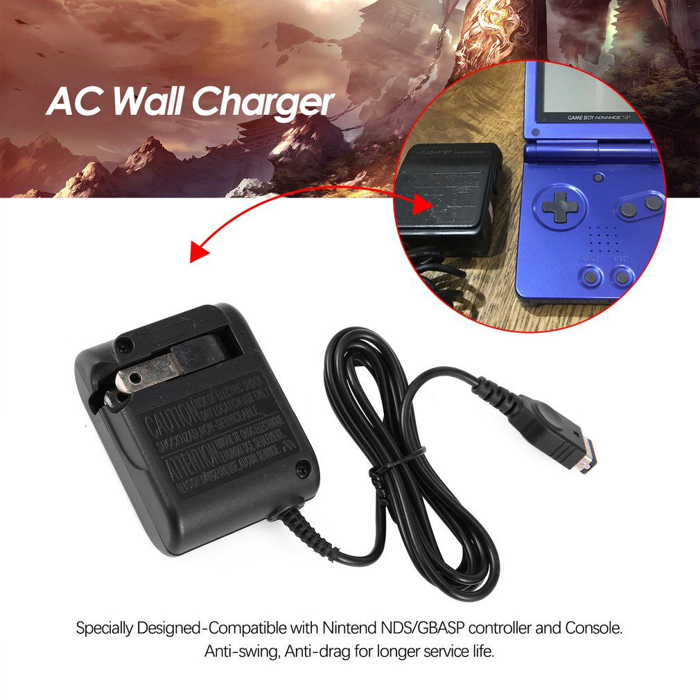 Cargador de pared de CA para Nintendo para GBASP para GameBoy Advance portátil reemplazo de viaje adaptador de corriente convertidor