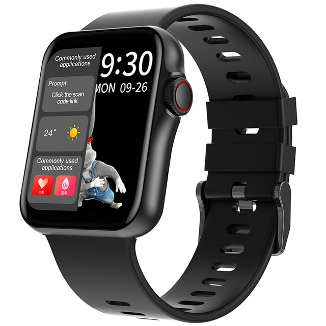 D06 Inch Big Full Touch HD Screen Smart Watch Sport Tracker Support Bluetooth Calling Heart Rate BP ECG With BT Music Playback