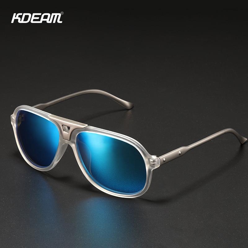 Мужские Солнцезащитные очки-авиаторы KDEAM, классические поляризационные зеркальные солнечные очки-авиаторы с защитой UV400, солнцезащитные оч...