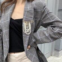 SHIFEEL 2019 nouvelle mode populaire numéro 5 pendentif perle gland grande broche tempérament personnalité boutonnière broche femmes bijoux