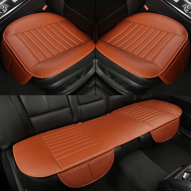 Wlmwl universal couro assento de carro almofada para nissan todos os modelos x-trail juke almera qashqai chutes nota teana tiida estilo do carro
