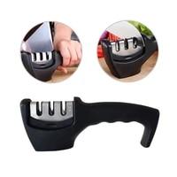 1 pcs knife sharpener kitchen knives blade sharpening tool 3 stage handheld system for home kitchen tool