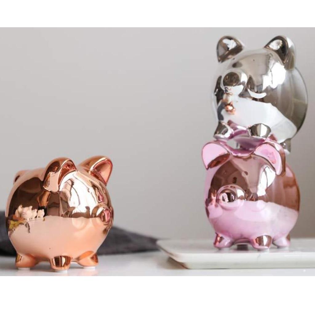 Ceramic Money Box Pots Savings Fund Save Coins coin bank