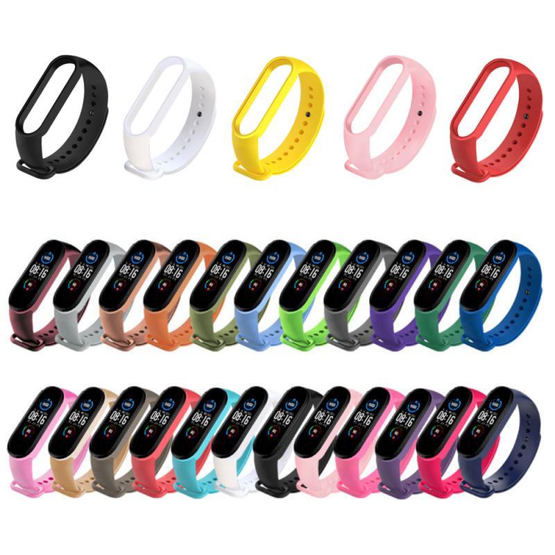 Colors Strap For Xiaomi Mi Band 5 6 Silicone Wristband Bracelet Replacement Strap For Mi Band 5 6 Wrist Color TPU Soft Strap