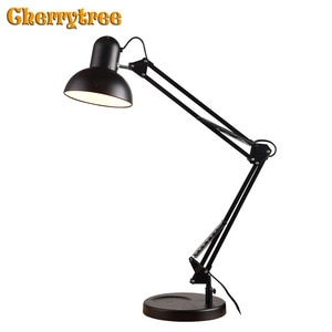 Table Lamps Study Desk Long Arm with Clip Living Room Table Light Bedroom Living Room Home Decoration Bedside Lamp Nightstand