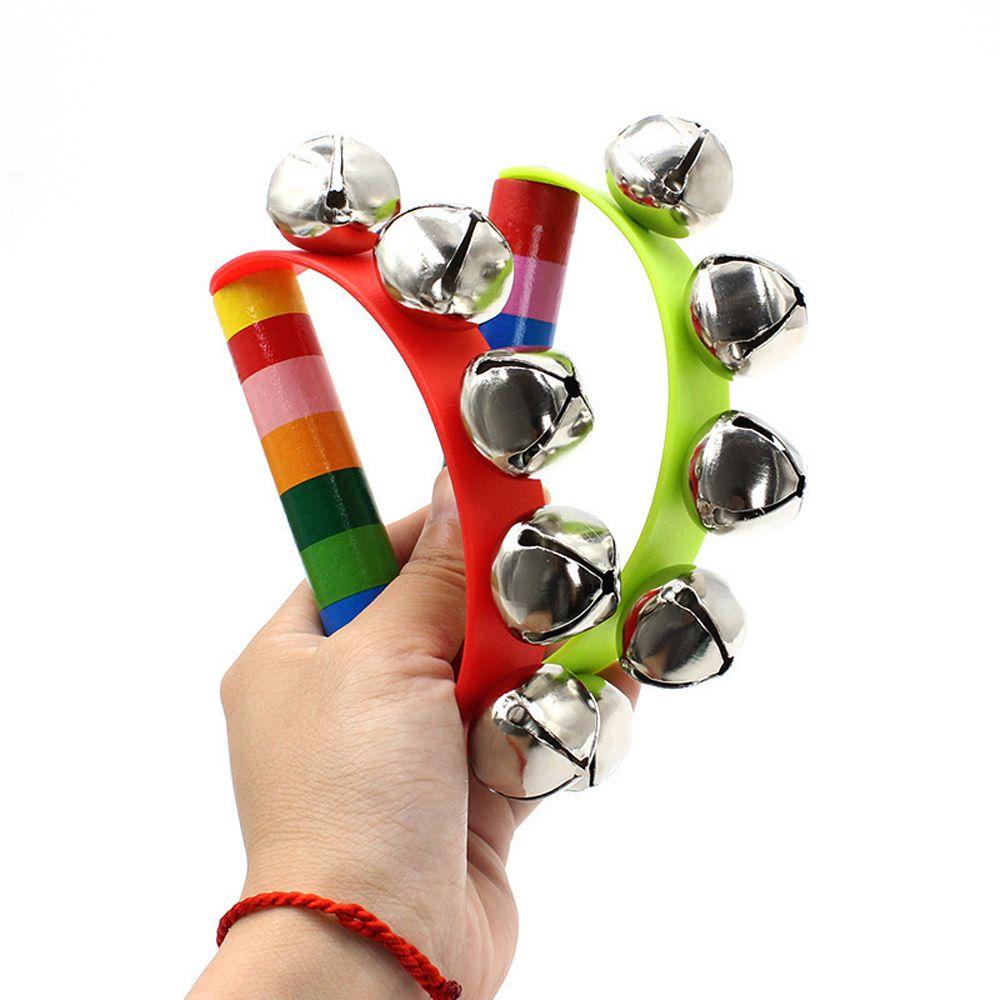 Baby Early Education Musical Instruments Random Colorful Cartoon Baby Rattle Rainbow Toy Pram Crib H