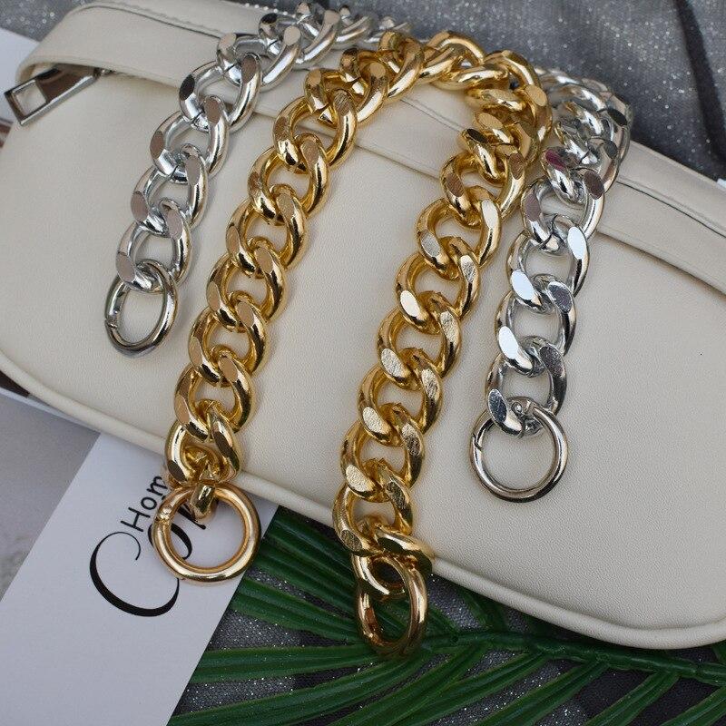 30cm novo europeu e americano pequena fragrância vento metal alumínio saco corrente jóias colar corrente acessórios saco corrente