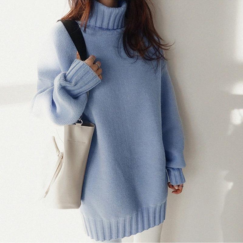 Sueter mujer camisola de pulôver de malha de estilo coreano 2020 manga comprida sueter camisola de camisola de malha mujer mujer de moda