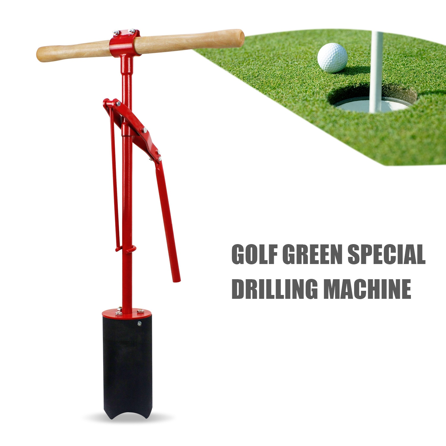 CRESTGOLF Putting Green Lever Action Hole Cutters Punch Machine Golf Green Special Drilling Machine with Manual Operation