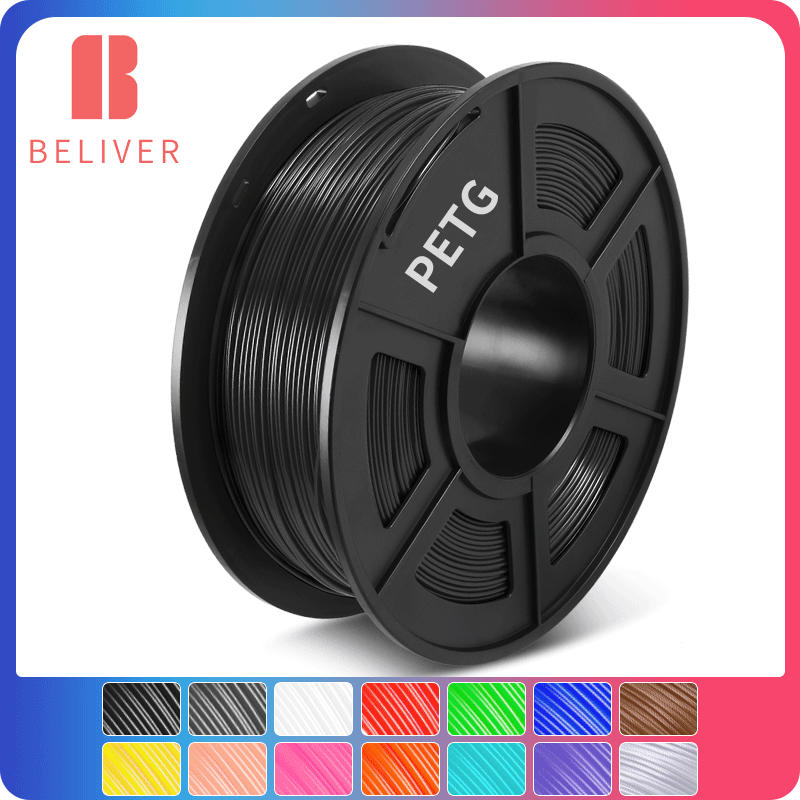 3D Printer Filament PETG 1.75 MM Plastic PETG 3D Filament 1 KG With Spool 3D Printing Materials