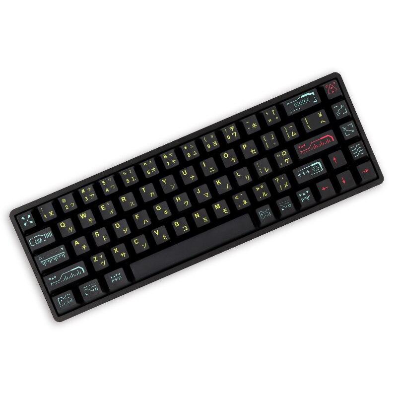 68 مفتاح/مجموعة يوقظ PBT أغطية المفاتيح OEM الشخصي ل dz60/آن Pro2/GK61/GK64 MX التبديل لوحة المفاتيح الميكانيكية صبغ التسامي Keycap