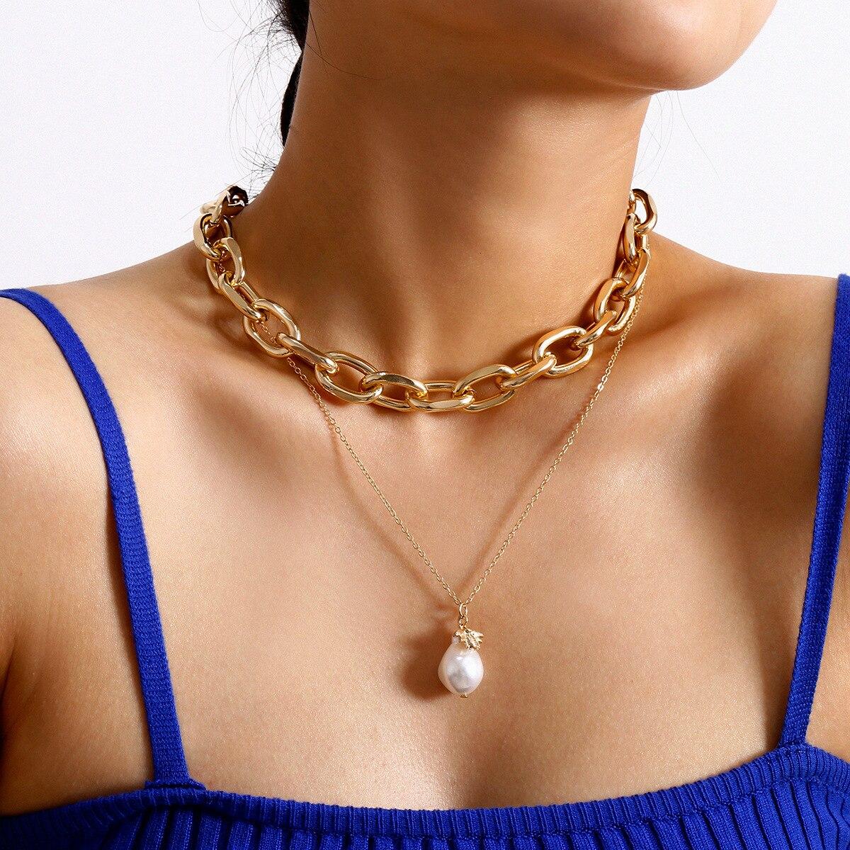 Nuevo collar en capas de perlas de abeja gargantilla Collares para las mujeres 2020 cadena Boho joyería Collares