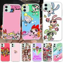 PENGHUWAN PowerPuff Girls Black TPU Soft Rubber Phone Cover for iPhone 11 pro XS MAX 8 7 6 6S Plus X 5S SE XR cover