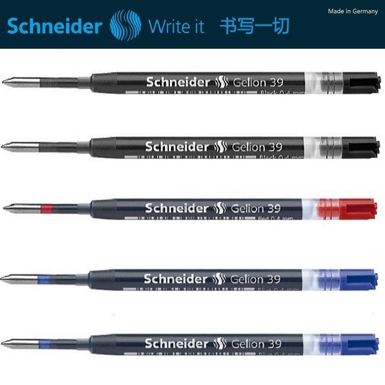 Немецкая оригинальная нейтральная гелевая ручка Schneider 39, заправка картриджа, европейский стандарт, G2 заправка