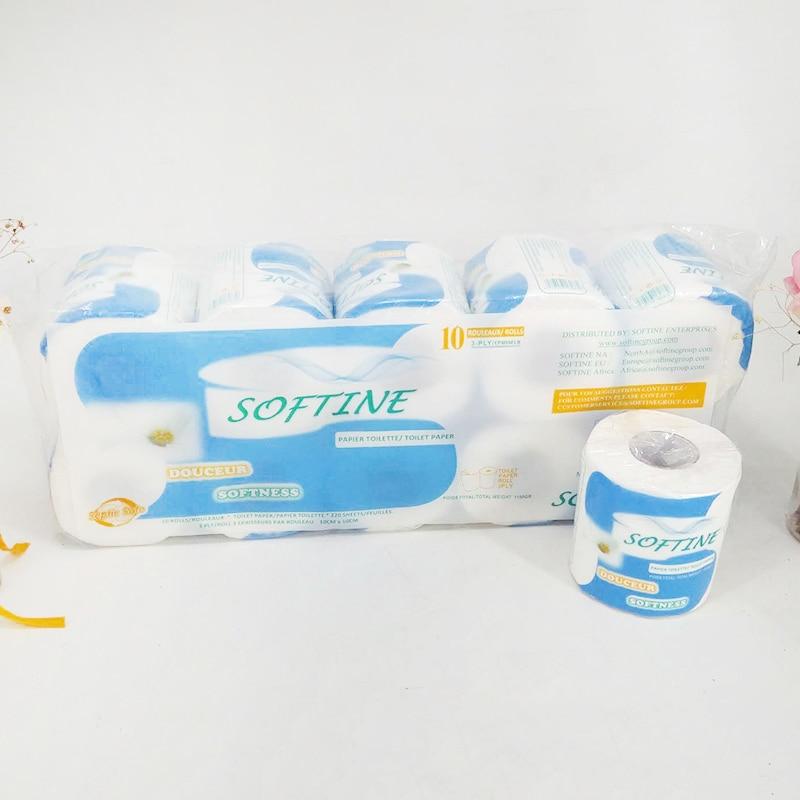 10 Rolls/Lot Toilet Roll Paper 3 Layers Home Bath Toilet Roll Paper Primary Wood Pulp Toilet Paper Tissue Roll kicthen bathroom