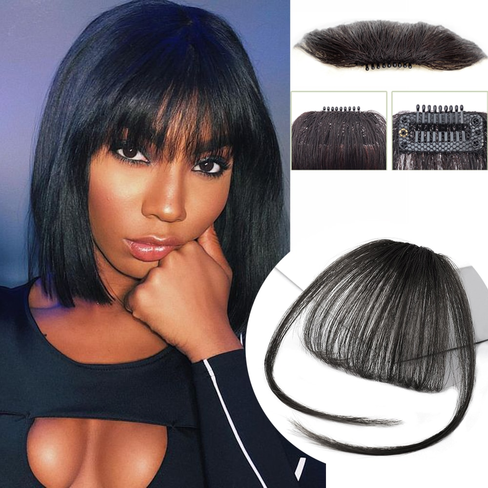Air Bangs Clip In Bangs Fringe Hair extension Women Clip In Hair clip Extension On Hair Accessories Fake Hair