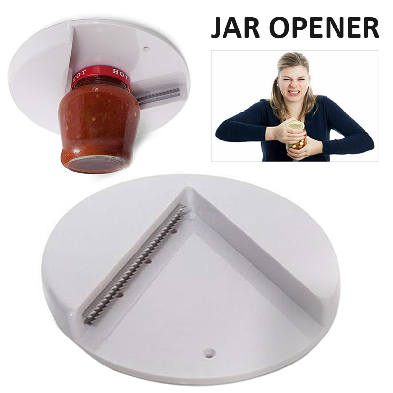 1pc Jar Opener Under Kitchen Cabinet Counter Top Lid Remover Arthritis Can Opener For Kitchen Accessories