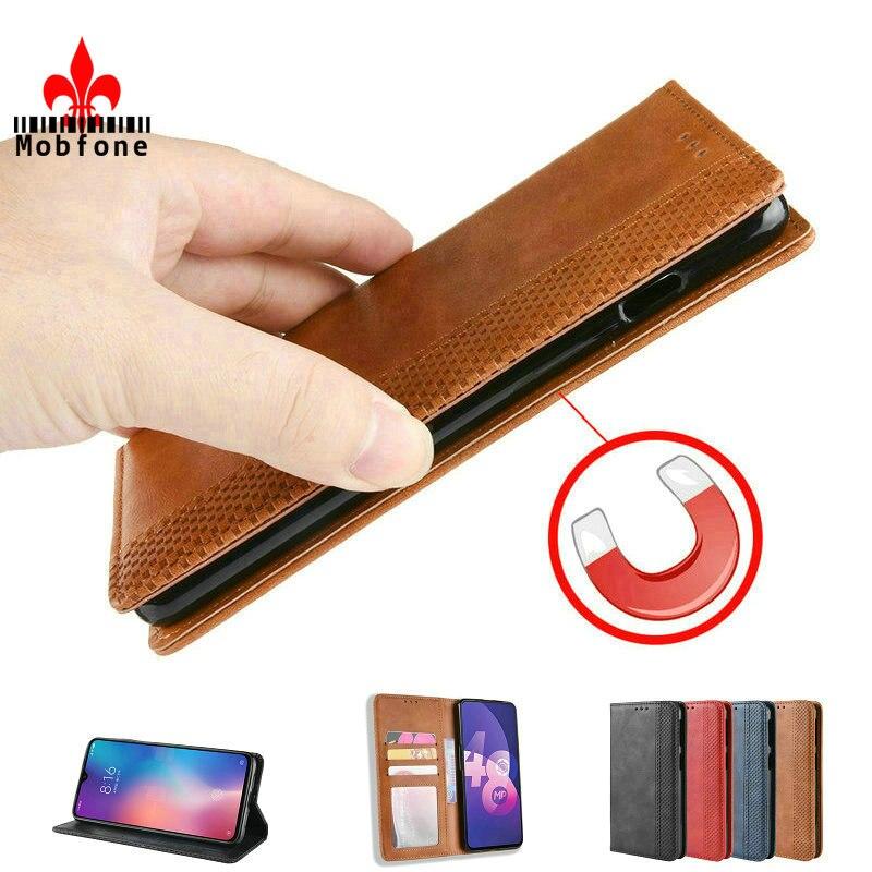 MOBFONE kılıfı için OPPO A52 A72 A92 A92S deri çanta cüzdan bul X2 Pro Flip manyetik kapalı otomatik Realme için X50 6 Pro ACE 2 torba