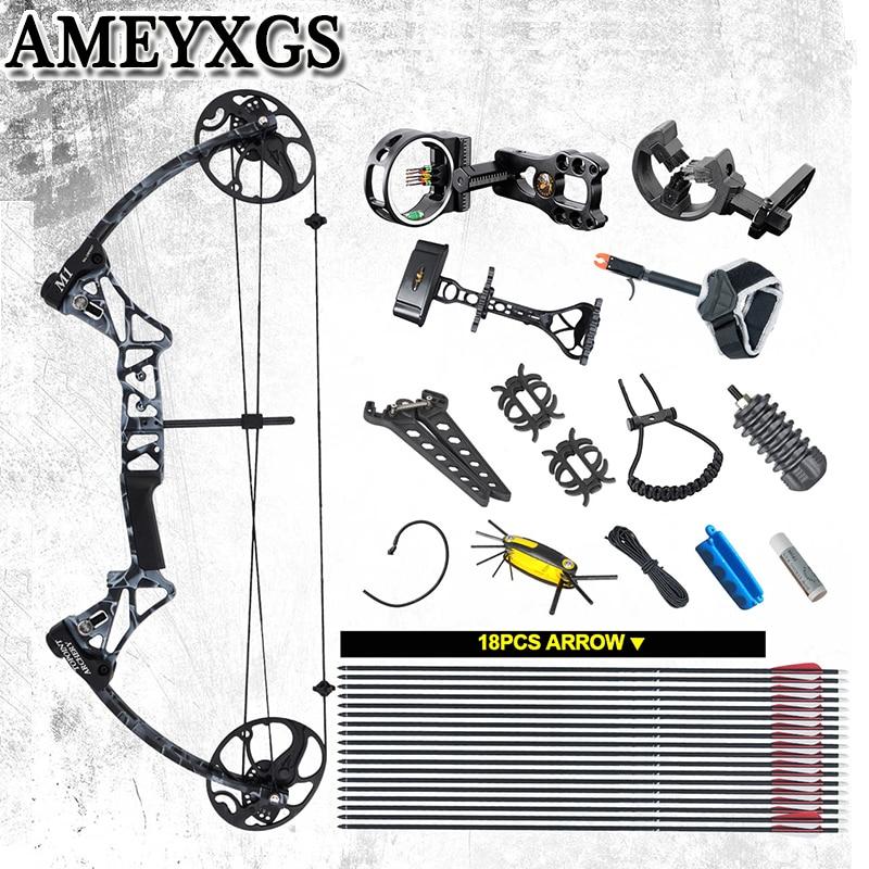 M1 tiro com arco composto 19-70 lbs ibo 320fps caça tiro esportes ao ar livre jogo arco e flecha acessórios